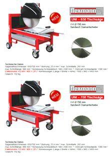 Tischsäge, Flexmann UNI-650, UNI-700